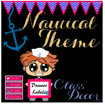 Nautical Theme Drawer Labels