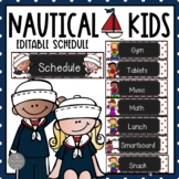 Nautical Theme EDITABLE Picture Schedule with Melonheadz Kidlettes
