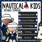 Nautical Theme EDITABLE Schedule
