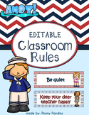 Nautical Theme - Editable Classroom rules - Classroom Decor
