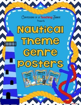 Nautical Theme Genre Posters Set
