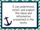 Nautical Theme Grade 5 Language I Can Statements