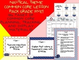 Nautical Theme Grade Five Common Core Lesson Planning Pack