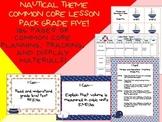 Nautical Theme Grade Five Common Core Lesson Planning Pack