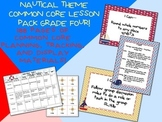 Nautical Theme Grade Four Common Core Lesson Planning Pack
