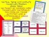 Nautical Theme Grade Three CCSS Complete Vocabulary Program