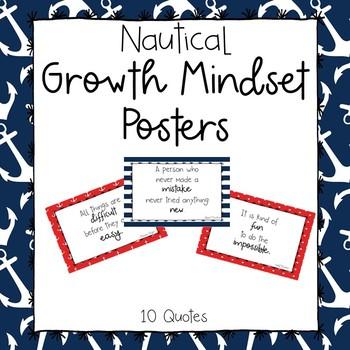 Nautical Theme Growth Mindset Posters