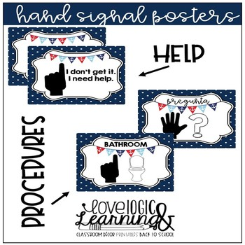 Nautical Theme Hand Signal Posters