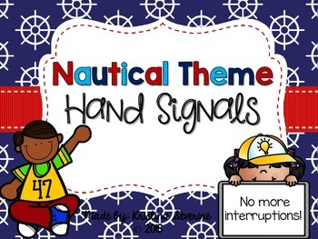 Nautical Theme Hand Signals {FREEBIE}