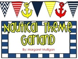 Nautical Theme - Hanging anchor and Flag Garland Decor