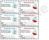 Nautical Theme Homework Pass