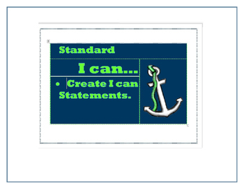 "Nautical Theme ""I can statements"" {Editable}"