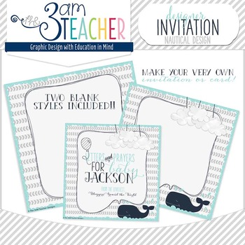 Nautical Theme Invitation Graphic: PERSONAL USE ONLY