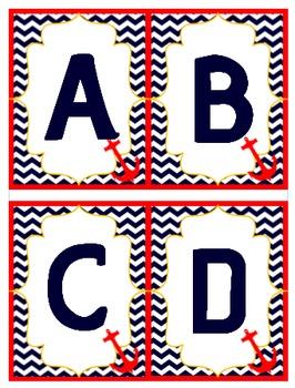 Nautical Theme Letter A-Z