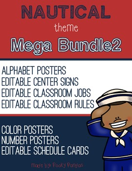 Nautical Theme - MEGA BUNDLE 2 - Classroom Decor
