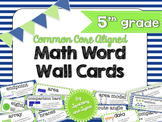 Nautical Theme Math Word Wall (5th Grade)