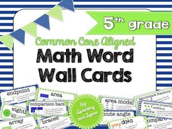 Nautical Theme Math Word Wall (5th Grade)