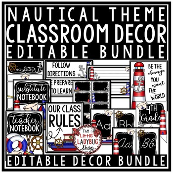 Meet The Teacher Letter- Nautical Classroom Theme Meet Teacher Template Editable