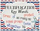 Nautical Theme Multiplication and Division Key Words Posters