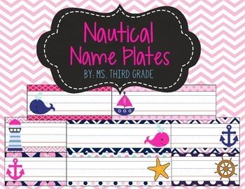 Nautical Theme Name Plates