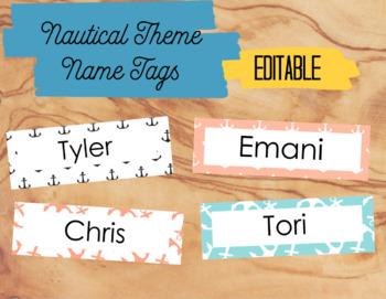 Nautical Theme Name Tags