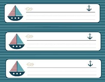 Nautical Theme Nameplates/Nametags