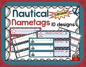 Nautical Theme Nameplates/Nametags