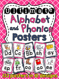 Nautical Theme Navy and Pink Alphabet Posters and Phonics Posters Bundle