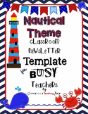 Nautical Theme Newsletter Template for Busy Teachers
