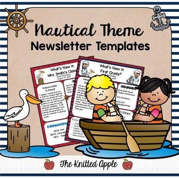 Nautical Theme Newsletter Templates