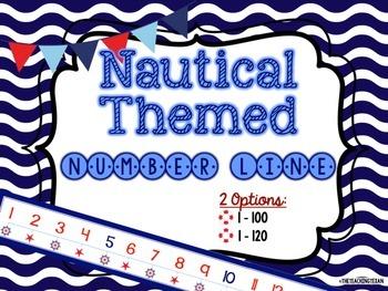 Nautical Theme Number Line Set
