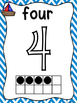 Nautical Number Posters 0-10 Chevron