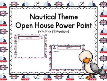 Nautical Theme Open House Power Point