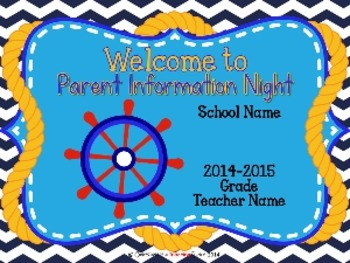 Nautical Theme Parent Information Night Power Point Template
