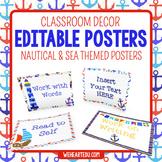 Nautical Theme Posters {editable}