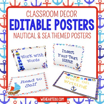 Nautical Theme Posters {editable}