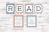 Nautical Theme READ decor, Reading Nook, Reading Corner, D
