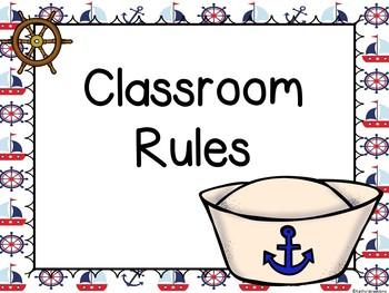 Nautical Theme Rules