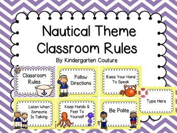 Nautical Theme Rules -Chevron