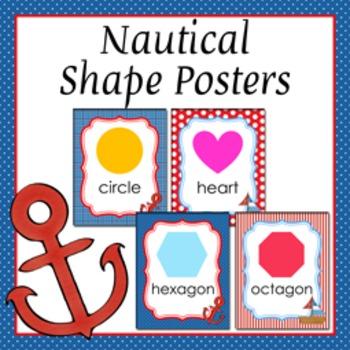 Nautical Theme Shape Posters