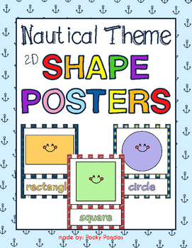 Nautical Theme - Shape Posters - Classroom Decor