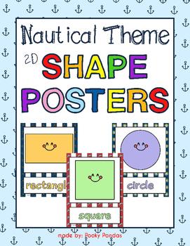 Nautical Theme - Shape Posters - Classroom Decor