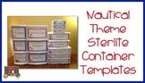 Nautical Theme Sterilite Container Templates