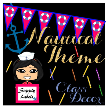 Nautical Theme Supply Labels