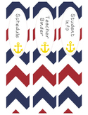 Nautical Theme Teacher Binder & Label Set