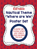 Nautical Theme Where Are We Poster Set