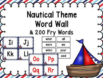 Nautical Word Wall & 200 Fry Words