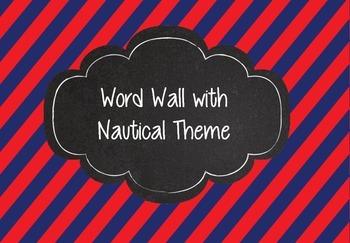 Nautical Theme Word Wall Chalkboard Anchors