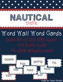 Nautical Theme - Word Wall Word Cards - Classroom Decor
