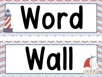 Nautical Word Wall and 200 Fry Words